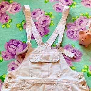 Urban Behavior Jeans - White Denim Overall Skirt Dress Urban Behavior S